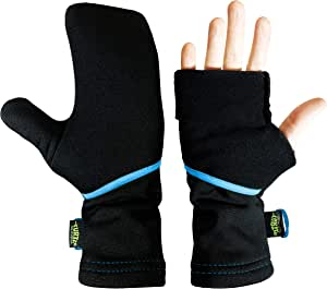 Turtle Gloves 轻便可转换弹簧/秋季跑步手套 L/X-L 黑色 unknown
