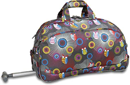 J World New York Christy Rolling Duffel Bag, Blazing Owl