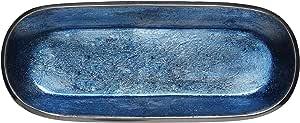 Melange 家居装饰长方形托盘底盘 35.56 厘米碗,颜色 - 天蓝色