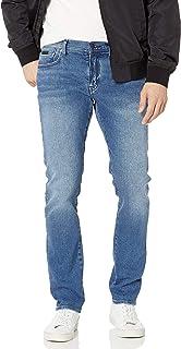 A|X Armani Exchange 阿玛尼男式牛皮弹力棉牛仔布5口袋长裤