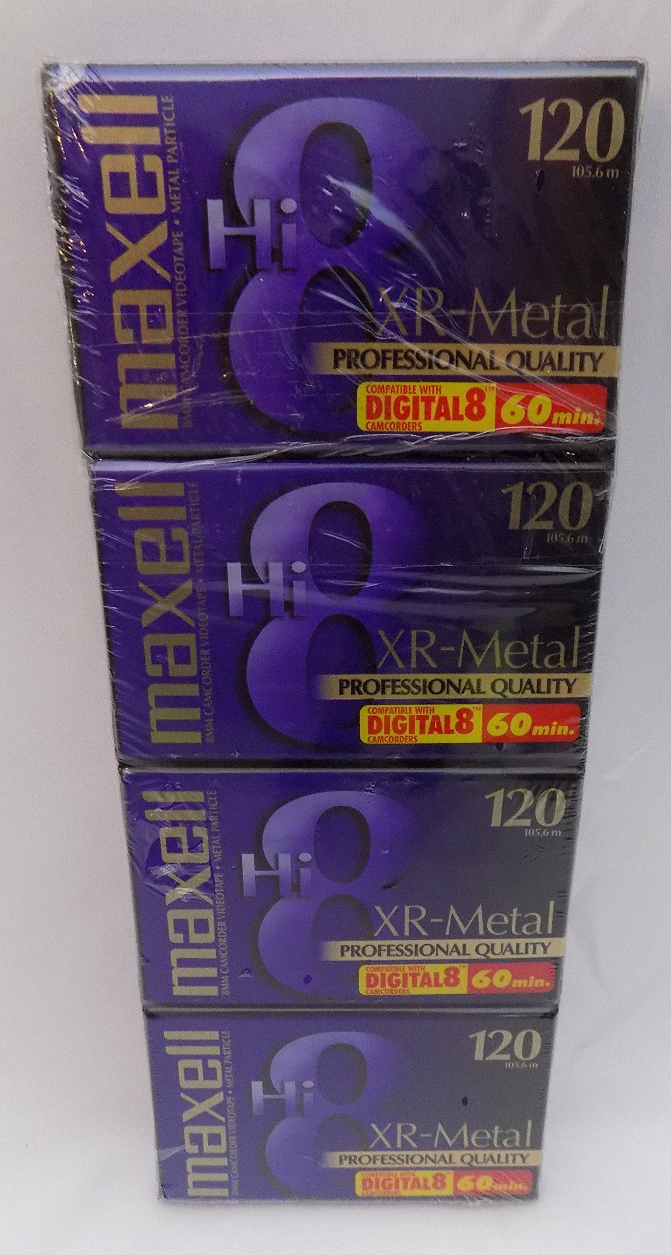 マクセルXR-メタルプロ品質のHi 8ビデオカメラのビデオテープ4パック