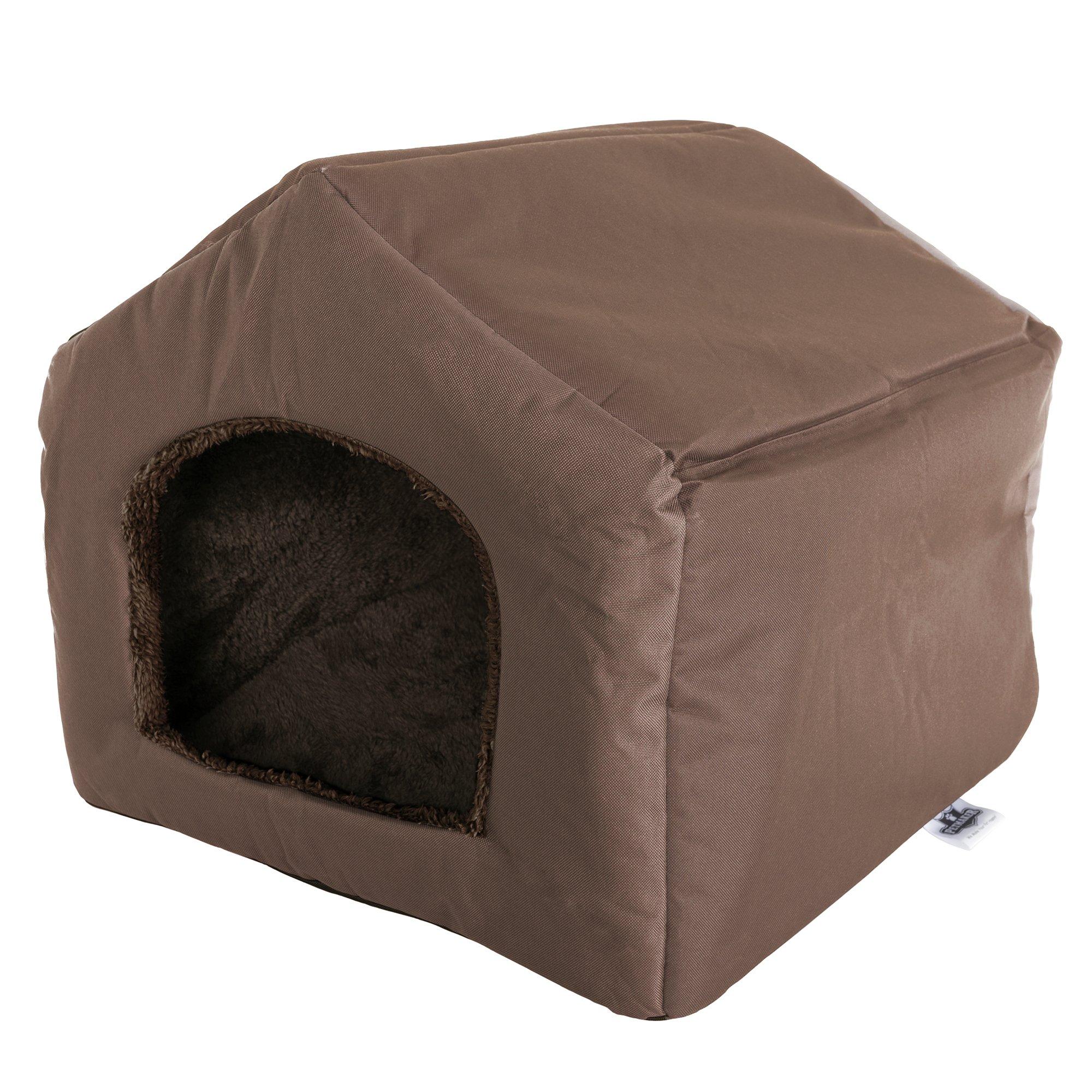petmaker 温馨小屋房子形状宠物床 棕色 19