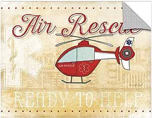 "ArtWall Jennifer Pugh's Air Rescue Removable Wall Art Mural, 18"" x 24"""