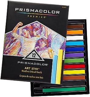 Prismacolor 三福霹雳马 Art Stix 12色油性蜡笔粉笔套装 不溶于水 绘画色粉笔粉彩棒
