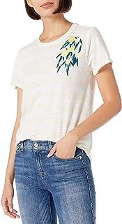 Lucky Brand 女式短袖圆领刺绣柠檬 T 恤