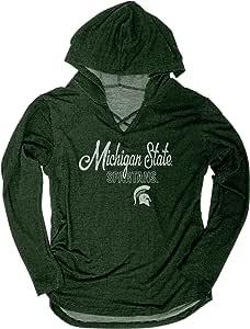 NCAA 密歇根州立大学斯巴达女子 Kenzie 优质厚绒连帽衫,L 码,森林绿