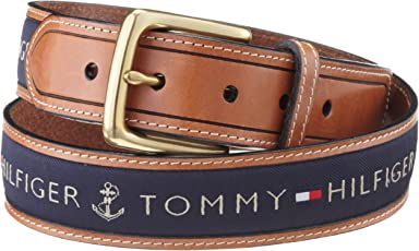Tommy Hilfiger汤米·希尔费格男士镶嵌皮带