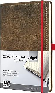 德国进口Sigel 品牌conceptum系列 复古风格封面笔记本 横线内页 (褐色B5(18.7×28 cm))