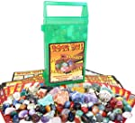 开启! 带摇滚和矿物收藏的地质游戏 - 用手提箱收集和学习 - 紫水晶、红宝石、石榴水晶、苏达利石等等