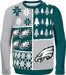 NFL Philadelphia Eagles Busy Block Ugly Sweater, Medium, Green