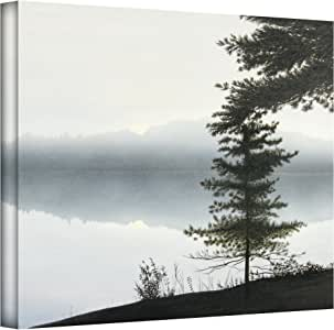 Art Wall Morning Fog by Ken Kirsch Gallery Wrapped Canvas Art, 18 by 24-Inch