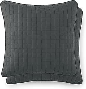 """Southshore Fine Linens - VILANO SPRINGS - 绗缝枕头罩 岩石灰 18"""" x 18"""" VIL-1818-QLT-PIL-SLT"""