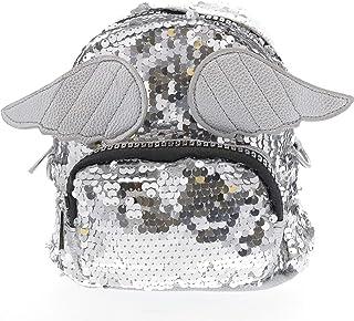 Doe a Dear 亮片迷你背包 w/天使之翼 | 假装游戏、儿童钱包、斜挎包、背包 | 免费发夹 | 女孩钱包,可爱 | 小号 | 适合儿童、幼儿、小女孩