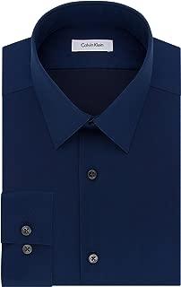 Calvin Klein 卡尔文·克莱恩 男式 修身免烫人字尖领衬衫