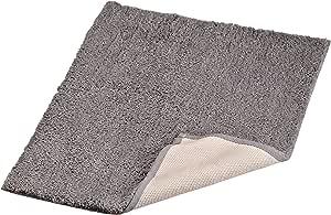 Regence Home 超细纤维绒毛后层浴地毯 *灰色 17-Inch by 23-Inch RI-1069