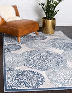 Unique Loom 3143611 Aberdeen 系列音色传统纹理复古小地毯-P