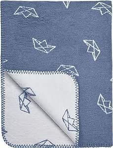 "Meyco 1551024 婴儿毯/毛绒毯""BOAT"" 120x150 厘米,牛仔蓝"