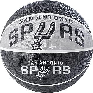 NBA 圣安东尼奥·斯皮斯 NBA 球场球队户外橡胶篮球队标志,黑色,29.5 英寸