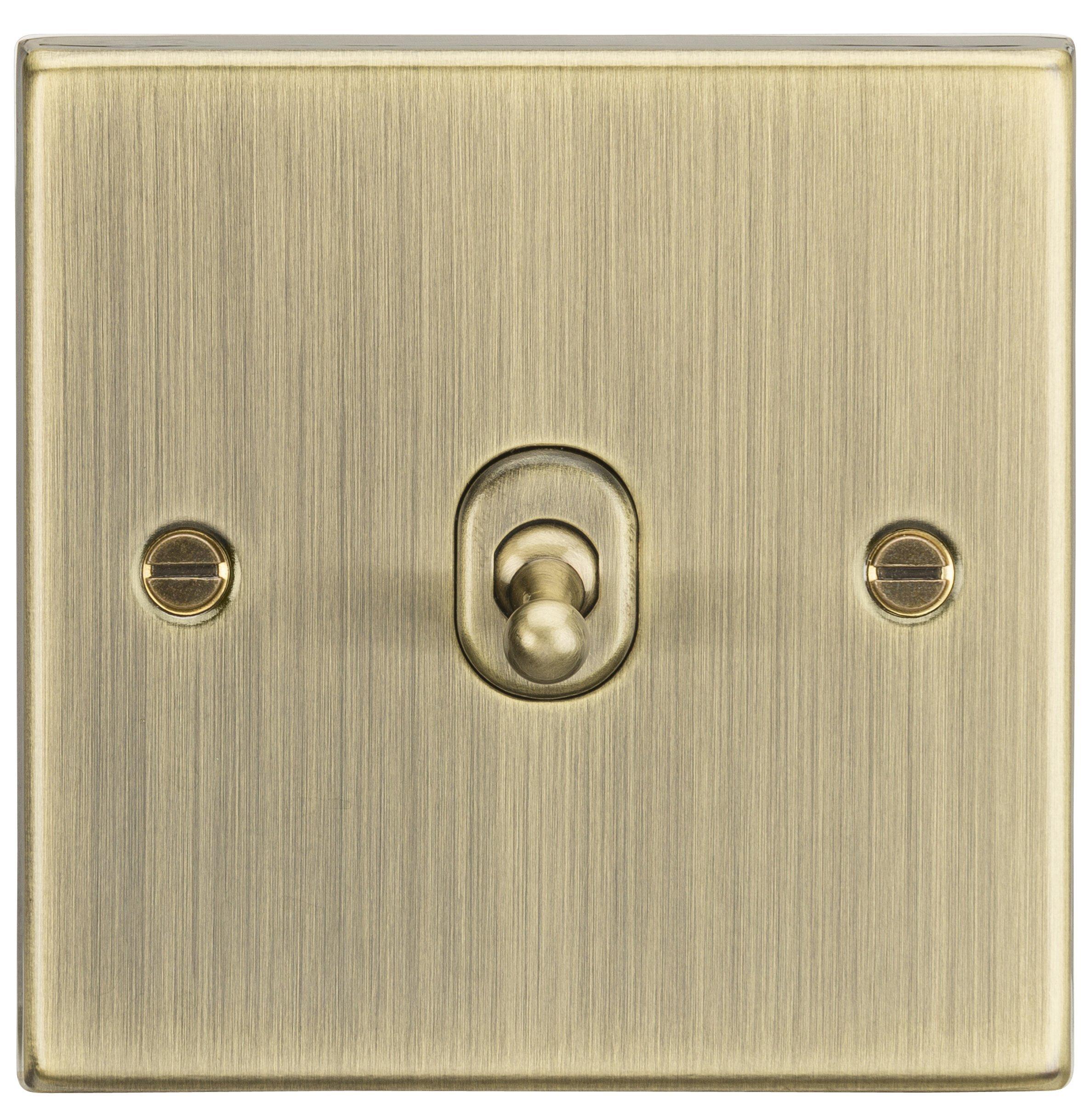 10A 1G中間ナイツCSTOG12AB正方形エッジスイッチ、ブロンズ