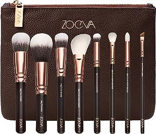 ZOEVA 纯合成天然奢华化妆刷套装,卷 1(玫瑰金)包括 8 个面部和眼部化妆刷