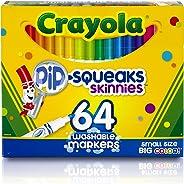 Crayola 繪兒樂 Pip-Squeaks Skinnies 可水洗馬克筆 64支 適合學?;蚣矣?完美的藝術工具