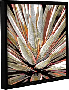 "ArtWall Linda Parker's Desert Agave Gallery Wrapped Floater-Framed Canvas, 14"" x 14"""