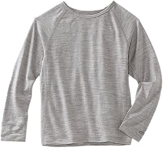 Icebreaker Oasis Kids Long Sleeve Shirt Bottom Shirt Long Sleeve Crew Neck grey Blizzard Hthr Size: 18-24 Months