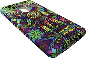 LG STYLO 4/STYLUS 4 2018 TPU 柔性皮肤保护壳手机套 + 礼品支架 Color Dream Catcher