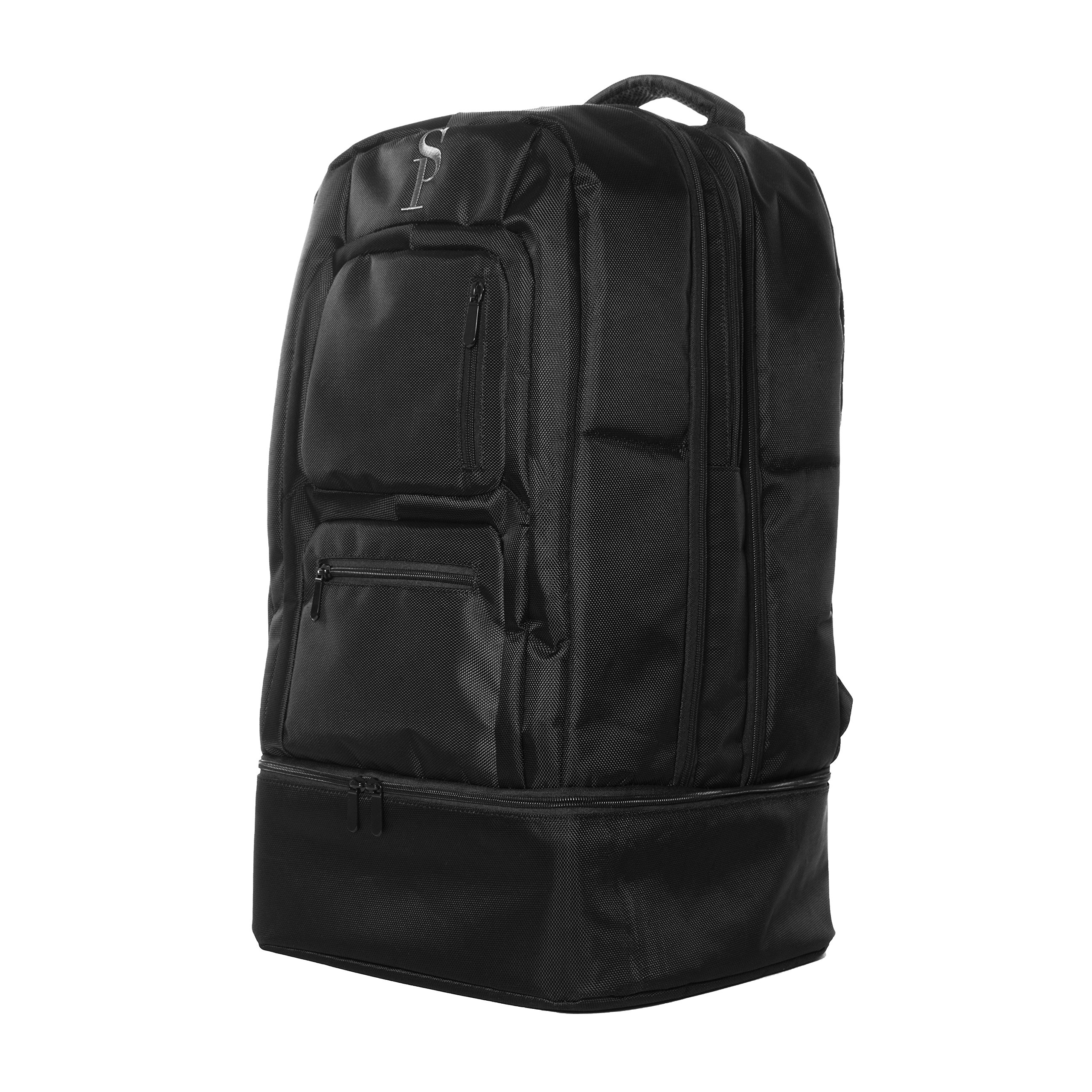 Sole Premise 笔记本电脑鞋随身行李旅行多功能运动鞋双肩包男女通用 黑色