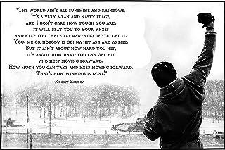 "Get Motivation The World Ain't All¡À.Rocky Balboa 海报印刷品 24"" x 36"" (60 x 91.5 cm) 无框礼品卷"
