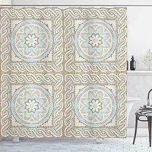 ambesonne 家居装饰系列浴室浴帘122cm x 183套装