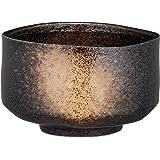 爱尔奈特 厨房用品・餐具/咖啡・茶具/日本茶・茶道具/抹茶碗 黑 13×12.5×8.7cm 抹茶碗 黑砂吹