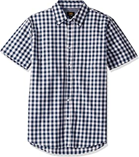 LEE 男式短袖系扣礼服衬衫 Camp Regular 大号