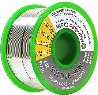 松香芯电焊线,电子,连接器,PCB 焊接;Mandala Crafts 出品 100g 0.5mm Lead Free Solder