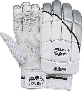 Newbery Cricket 中性青年幻影击球手套,白色/银色,青少年