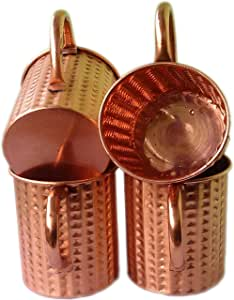 STREET CRAFT 正品无衬里莫斯科泥铜杯,纯铜杯 453.59 克锤琢风格独特 棕色 16盎司 UHCSM-1001