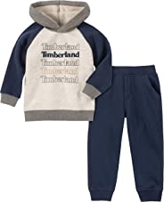 Timberland 添柏岚男孩 2 件套连帽套头裤套装