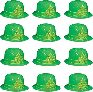 Beistle 塑料圣帕特里克节三叶草赛马帽 */黄色 OSFM S33976-25AZ12