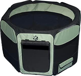 Pet Gear Travel Lite Octagon Pet Pen with Removable Top for Cat and Dog up to 90-Pound, 46-Inch, Sage