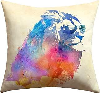 DENY Designs Robert Farkas Sunny Leo Outdoor Throw Pillow, 16 by 16-Inch