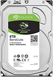 SEAGATE BarraCuda 8TB 正規代理店 3.5英寸 HDD內置硬盤 SATA 6Gb/s 64GB 5400rpm 面向臺式電腦