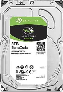 SEAGATE BarraCuda 8TB 正规代理店 3.5英寸 HDD内置硬盘 SATA 6Gb/s 64GB 5400rpm 面向台式电脑