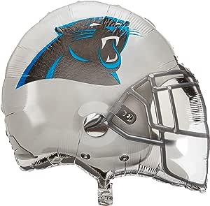 "Anagram International Carolina Panthers Helmet Flat Party Balloons, 21"", Multicolor"