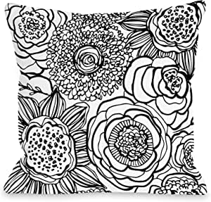 Joy Ting Bentin 家居装饰 Sara 轻质羽绒被套 Primrose - White Black Lightweight Twin Duvet Cover 13272LDVT