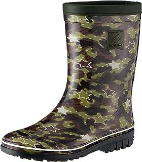 [MOONSTAR] 雨靴 日本制造 防滑鞋底 宽松 2E 儿童 RB J12 卡其色 22.0 cm 2E