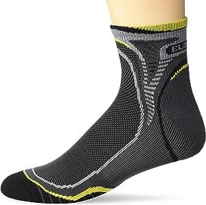 Eurosocks 越野跑步袜,弹性拱形带,脚踝支撑,平头接缝,吸湿排汗技术,干脚 = 更少水泡 -EU516 小号 灰色 EU1516