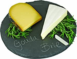 Country Home Circle Slate Cheese Board by Twine