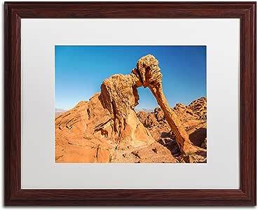 Trademark Fine Art Elephant Rock Art by Pierre Leclerc in Wood Frame, 16 by 20-Inch, White Matte