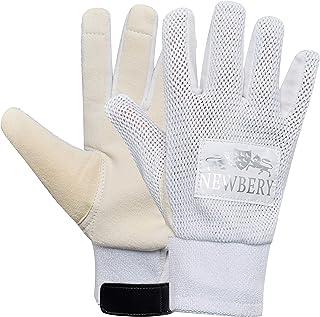 Newbery Cricket 中性青年麂皮内衬手套,白色,小号高级