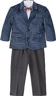 Nautica 男童西装套装带夹克裤子衬衫和领结